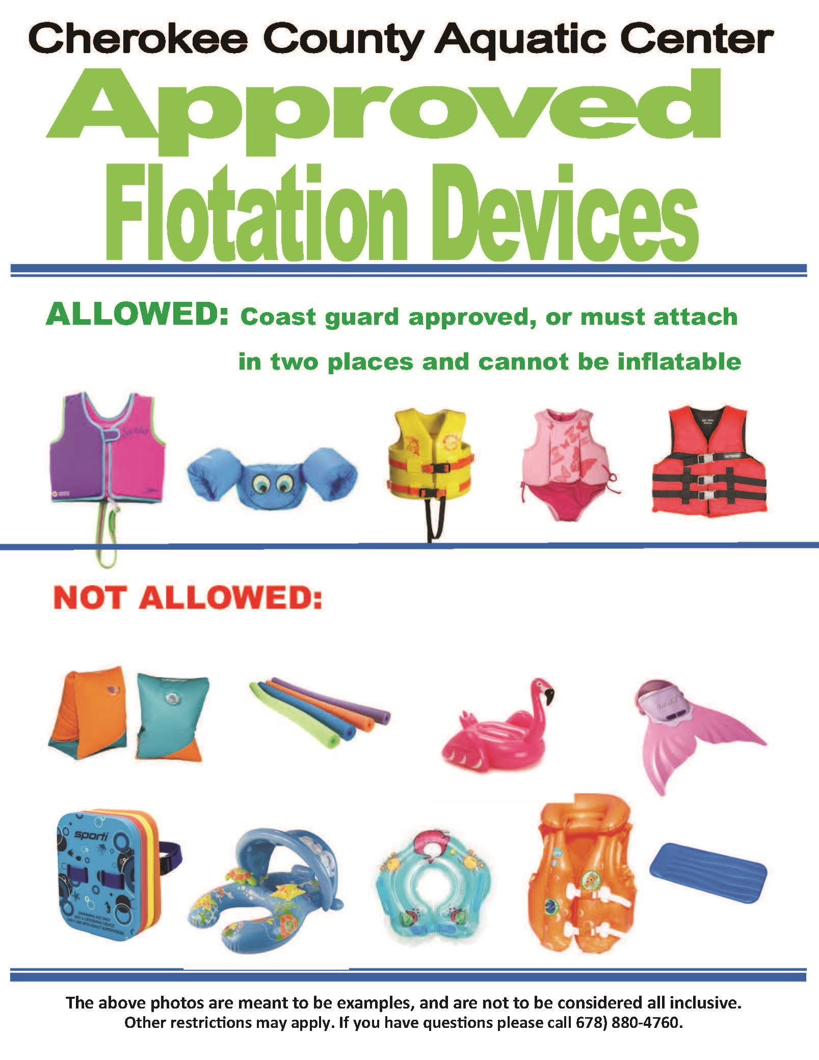 Floatation Devices